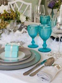 Новогодняя сервировка стола: стиль Тиффани