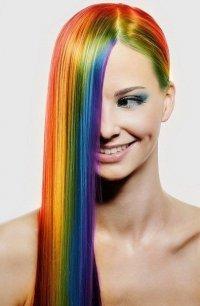 Оригинальная окраска волос: радуга