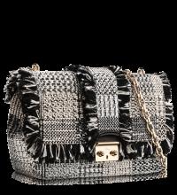 Черно-белая сумочка из твида Miss Dior