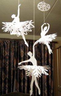 Поделки на Новый год: балерины-снежинки