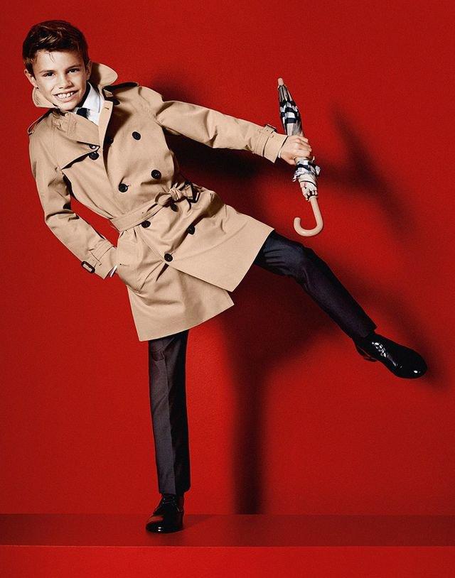 Ромео Бекхэм дебютировал в качестве модели Burberry