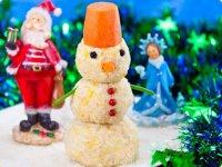 Новогодняя закуска «Снеговик»