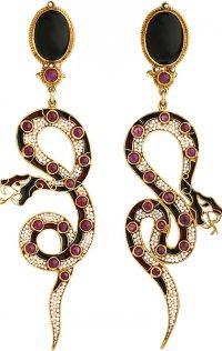 «Ядовитые» серьги-змеи Percossi Papi