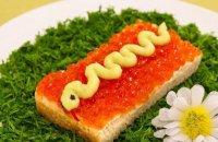 Праздничные бутерброды «Змейка»