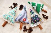 Ароматные праздничные елочки-саше