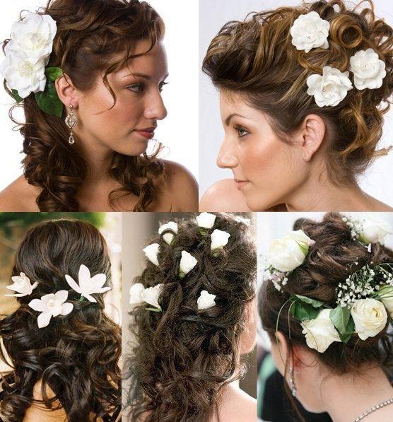 Разнообразие свадебных причесок с цветами