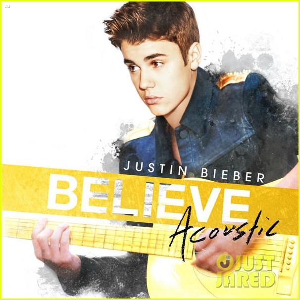 Обложка нового акустического альбома Джастина Бибера «Believe: Acoustic»