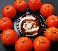 Шоколадно-мандариновый скраб для области декольте и шеи