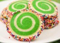 Новогоднее миндальное печенье-спираль