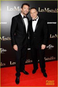Рассел Кроу и Хью Джекман на австралийской премьере «Отверженных»