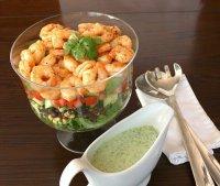 Новогодний салат с креветками по-мексикански