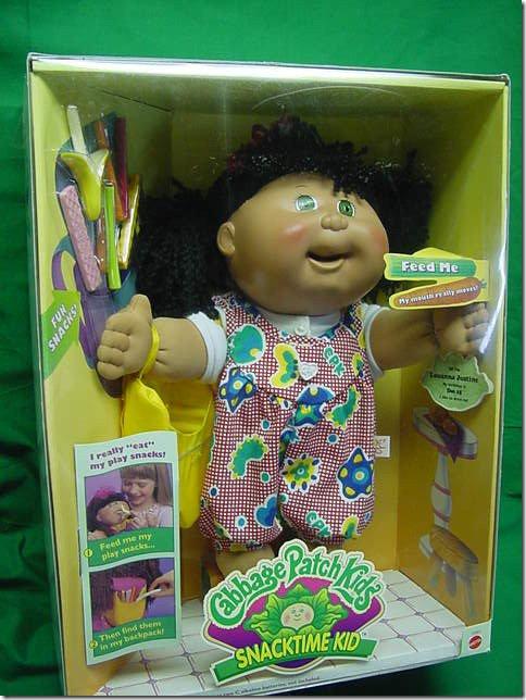 Опасные игрушки: кукла Cabbage Patch Snacktime Kid