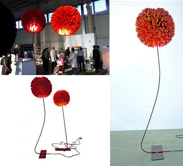 O.T.Tosa Lamp от Pluma Cubic - пушистый «торшер для чирлидеров»