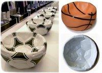 Пиалки в виде сдутых мячей от Алекса Гарнетта