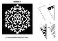 Как вырезать снежинки из бумаги? Красивая схема