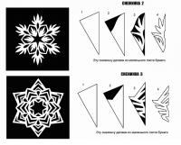 Еще схемы вырезания снежинок из бумаги
