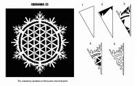 Вырезание снежинок из бумаги: усложняем задачу
