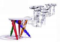 Joy и Mistral: стеклянные столики-балерины от Борека Шипека