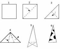Снежинки из бумаги: варианты складывания