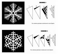 Вырезание снежинок: новые схемы