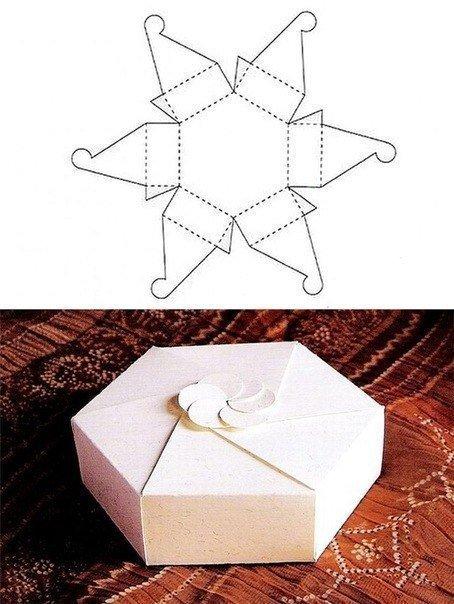 Коробочки для подарков своими руками: шестиугольник