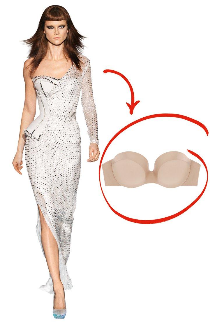 Как выбрать белье под вечернее платье: платье с одним плечом
