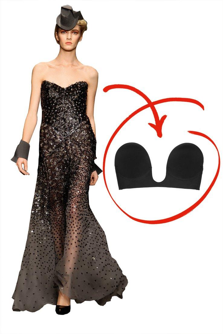 Как выбрать белье под вечернее платье: вырез в форме сердца