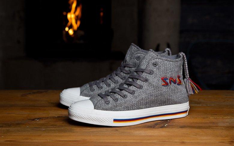 Вязаные кеды Sneakersnstuff x Converse