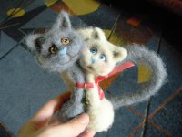 Валяние пары кошек