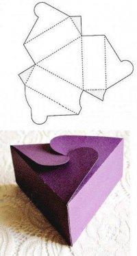 Коробочки для подарков своими руками: треугольник