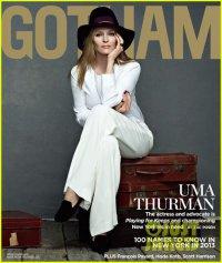 Ума Турман на обложке журнала Gotham