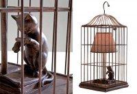 Кошка в клетке: необычная настольная лампа от Peter Lindbergh для The French Bedroom Company