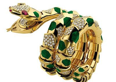 Змеиные часы Bulgari Serpenti