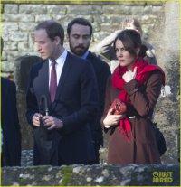 Кейт Миддлтон и принц Уильям на рождественской службе