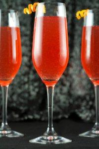 Коктейли с шампанским на Новый год: коктейль Шипучий Оскар