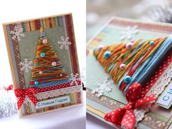 Идея для новогодней открытки своими руками