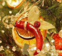 Новогодняя игрушка на елку из цитрусовых