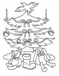 Новогодние раскраски для детей: Елочка