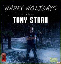 Тони Старк поздравляет с рождественскими праздниками