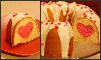 Как сделать красивый двухцветвный кекс
