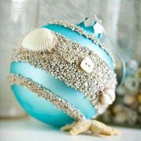 Новогодний шарик в морской тематике