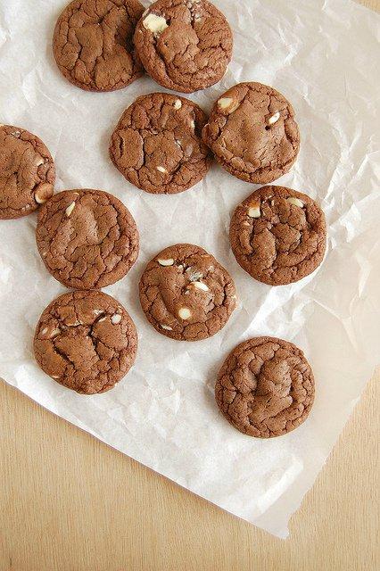 Двойное шоколадное печенье со сгущенным молоком