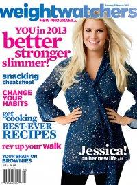 Джессика Симпсон на обложке журнала Weight Watchers январь/февраль 2013