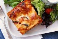 Вегетарианская лазанья с моцареллой