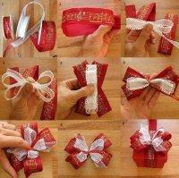 Красивый бантик на упаковку подарка