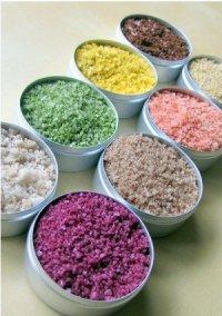 Цветная соль для декорирования