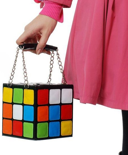 Сумка-кубик рубика - яркое дизайнерское решение для холодной зимы
