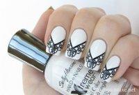 Красивые кружевные ногти