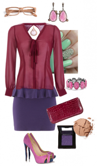 Рубиновый цвет в одежде