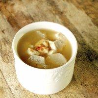 Мисо-суп с кунжутом и дайконом